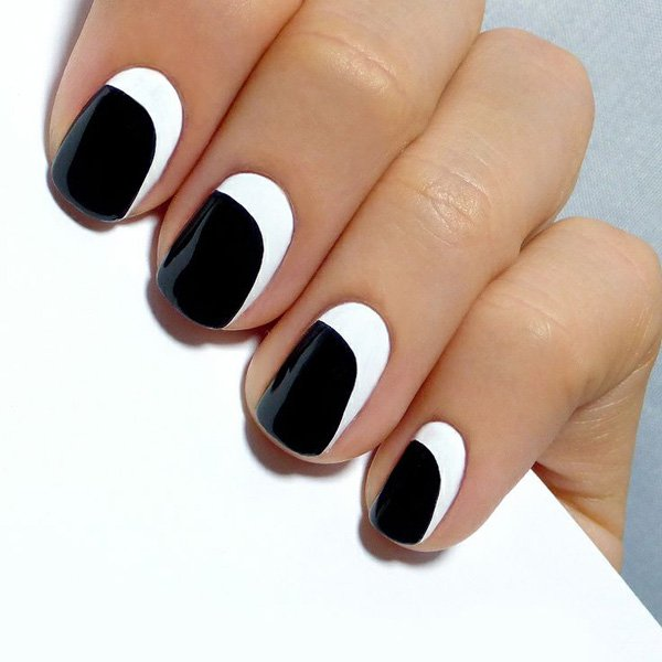55 creative black and white nail art examples (39)