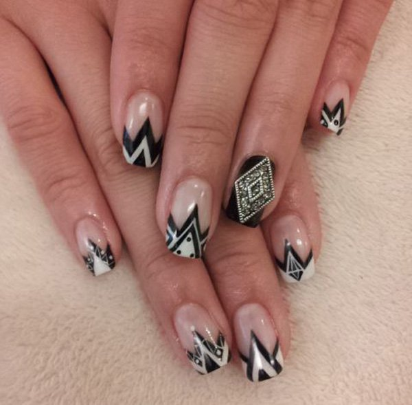 55 creative black and white nail art examples (40)