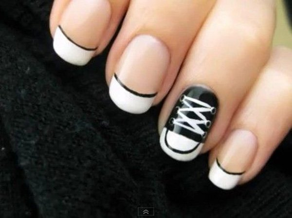 55 creative black and white nail art examples (42)