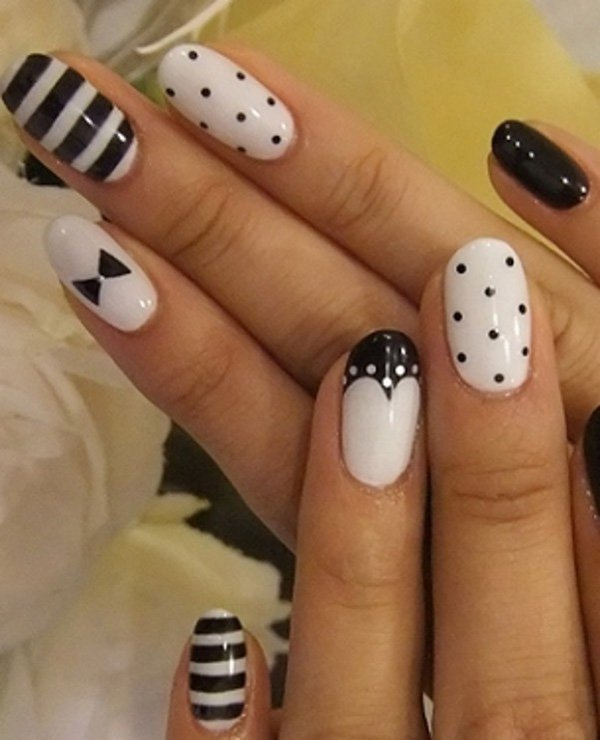 55 creative black and white nail art examples (43)