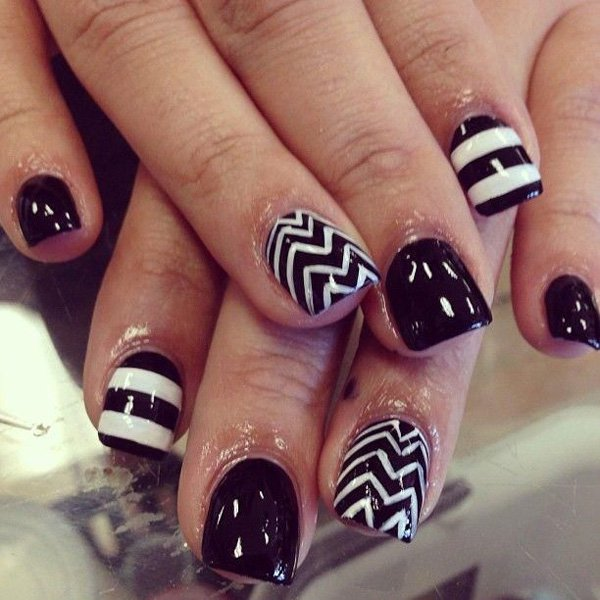 55 creative black and white nail art examples (47)
