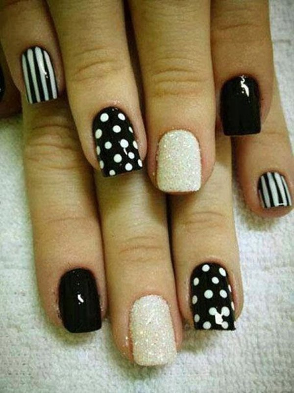55 creative black and white nail art examples (48)