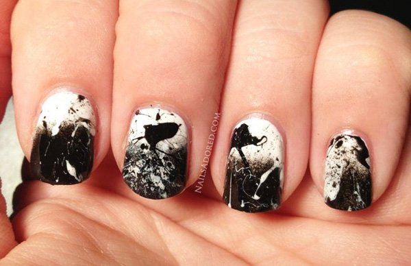 55 creative black and white nail art examples (49)