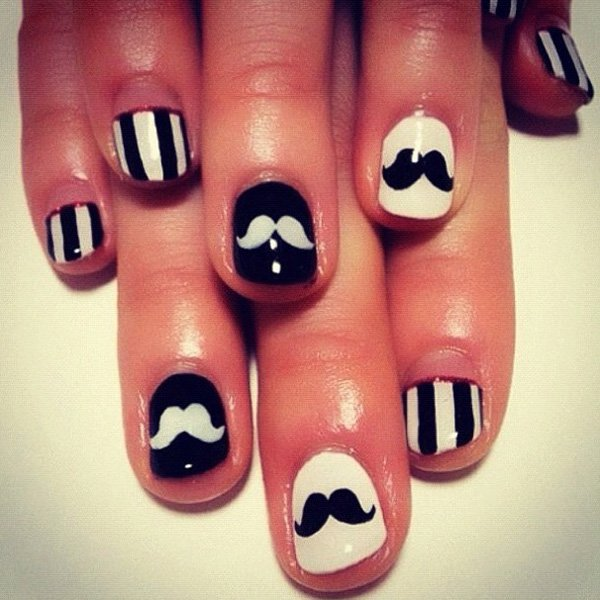 55 creative black and white nail art examples (5)