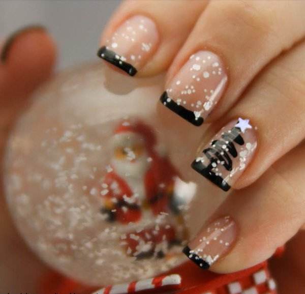55 creative black and white nail art examples (53)