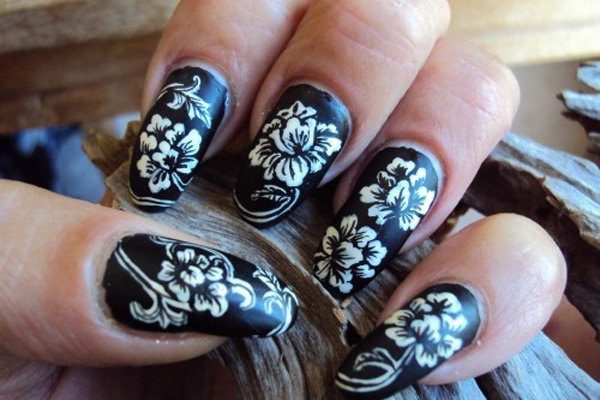 55 creative black and white nail art examples (8)