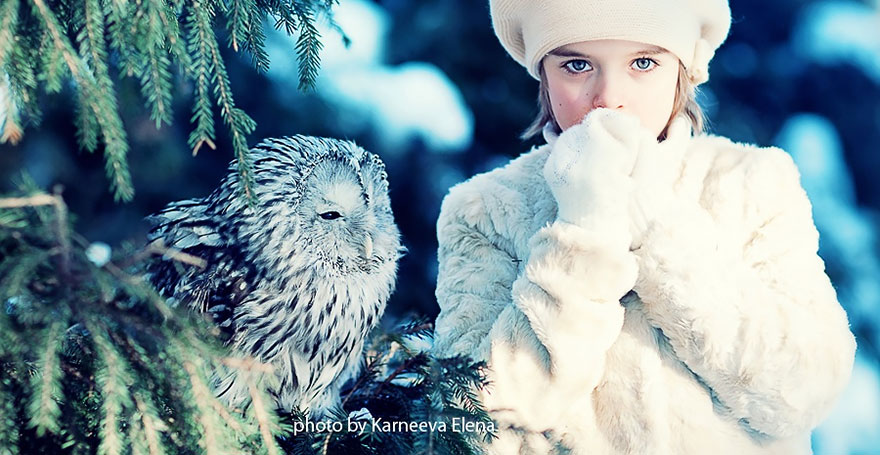 Adorable Photos Of Animals And Kids Playing In Snow  (8)
