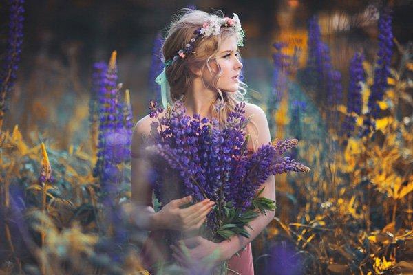 Beautiful Women with Flowers by Klaudia Rataj (15)