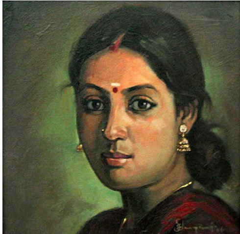 25 Beautiful South Indian Women Paintings by ilayaraja (6)