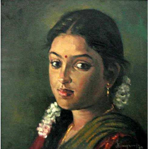 25 Beautiful South Indian Women Paintings by ilayaraja (7)