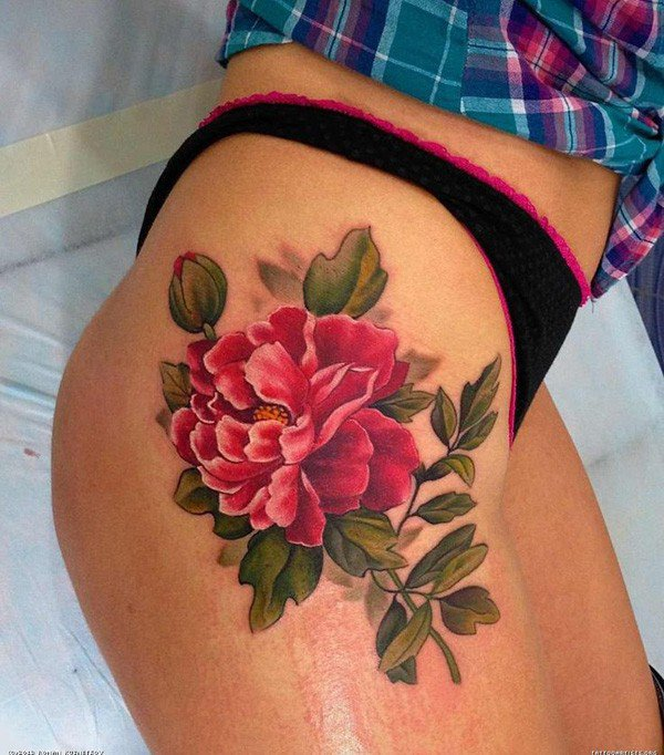 45 Mesmerizing Surreal Tattoos That Are Wonderful: 45 Most Beautiful Peony Tattoo Designs