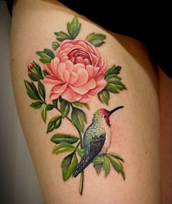 45 Most beautiful Peony tattoo Designs (13)
