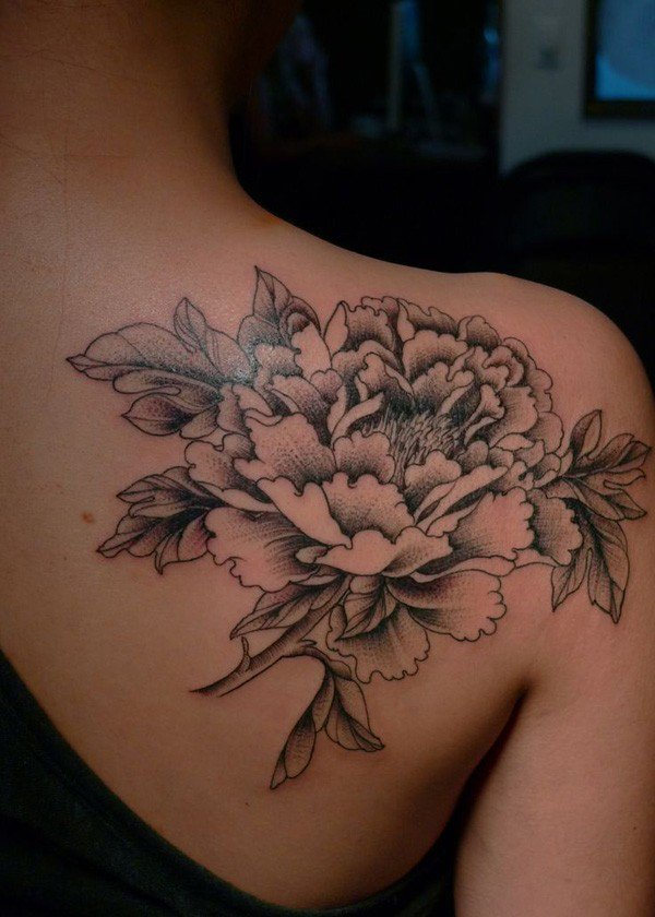 45 Most beautiful Peony tattoo Designs (20)