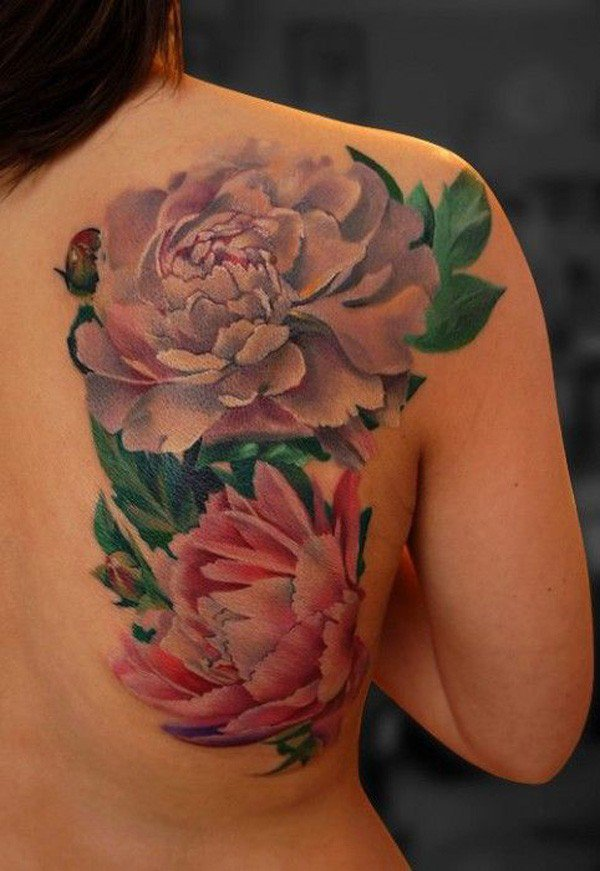45 Most beautiful Peony tattoo Designs (21)