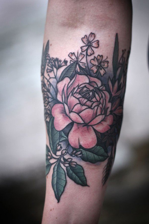 45 Most beautiful Peony tattoo Designs (25)