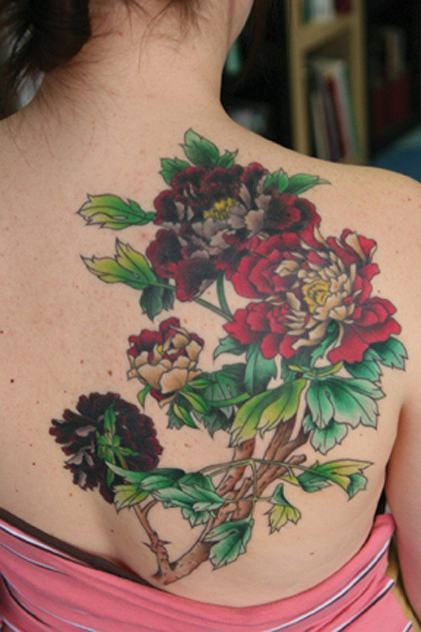45 Most beautiful Peony tattoo Designs (27)