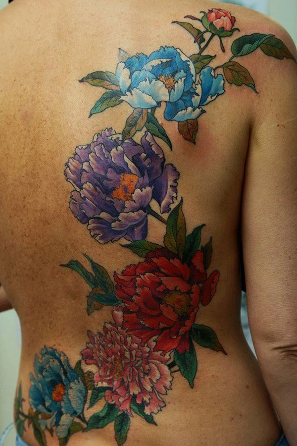 45 Most beautiful Peony tattoo Designs (28)