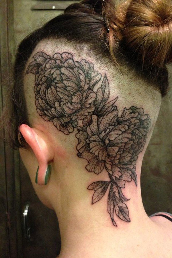 45 Most beautiful Peony tattoo Designs (29)