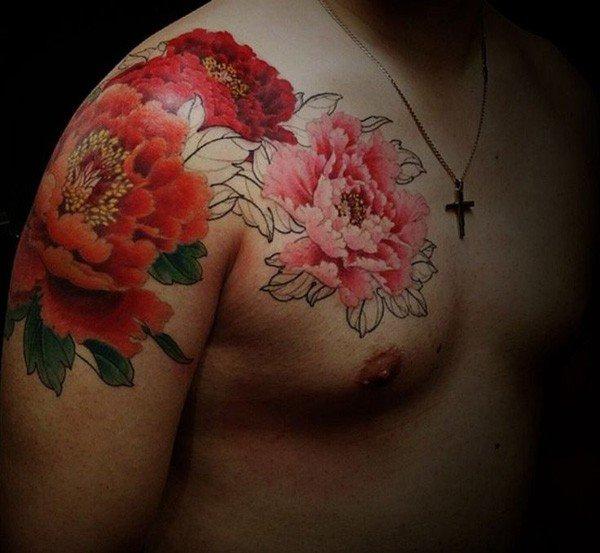 45 Most beautiful Peony tattoo Designs (3)