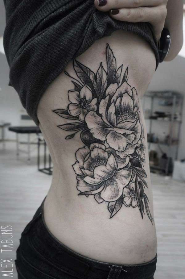 45 Most beautiful Peony tattoo Designs (35)