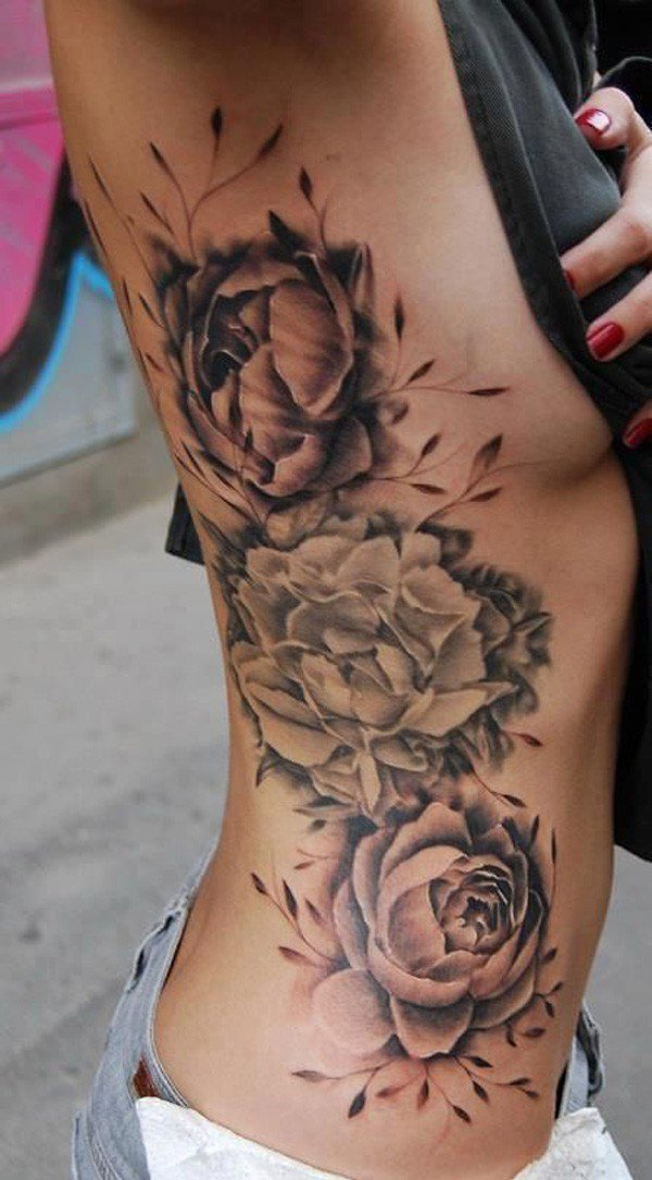 45 Most beautiful Peony tattoo Designs (40)