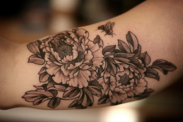 45 Most beautiful Peony tattoo Designs (42)