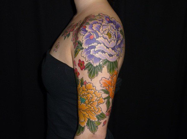 45 Most beautiful Peony tattoo Designs (44)