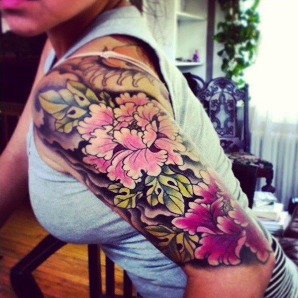 45 Most beautiful Peony tattoo Designs (8)