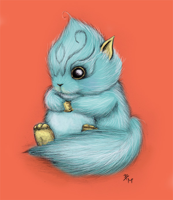 Cute Fluffy Creatures Illustration by Brea (10)