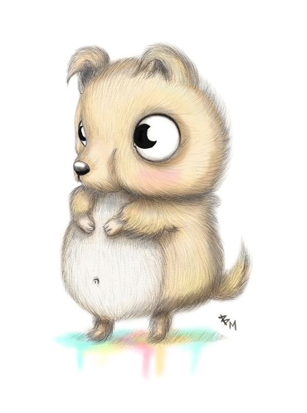 Cute Fluffy Creatures Illustration by Brea (12)