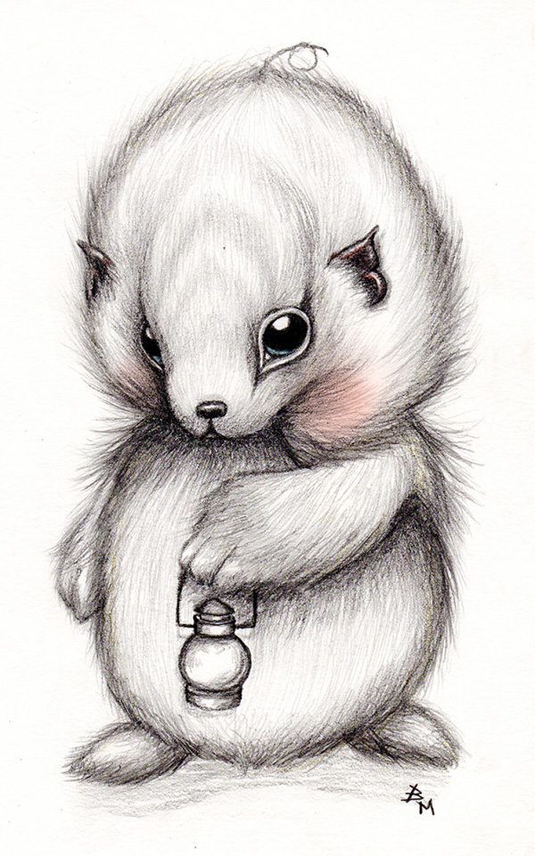 Cute Fluffy Creatures Illustration by Brea (2)