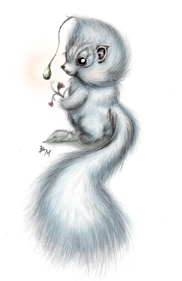 Cute Fluffy Creatures Illustration by Brea (3)