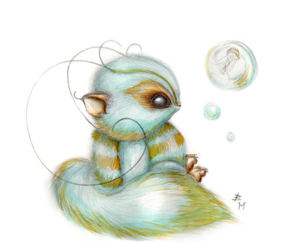 Cute Fluffy Creatures Illustration by Brea (5)