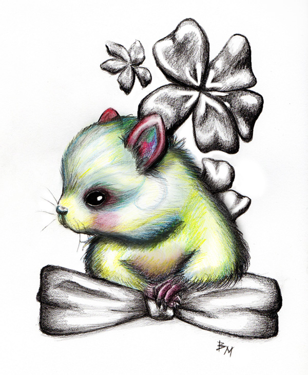 Cute Fluffy Creatures Illustration by Brea (7)