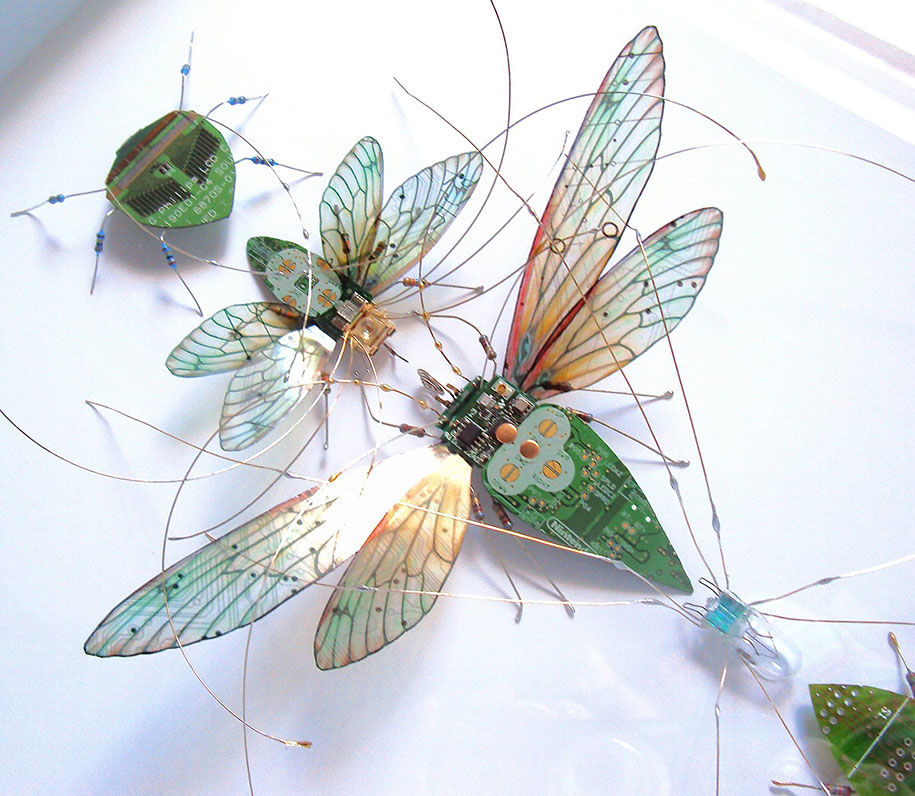 Winged crawly Designs From Old PC Parts And Gadgets Buzz by  Julie Alice Chappell (1)