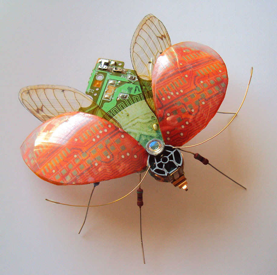 Winged crawly Designs From Old PC Parts And Gadgets Buzz by  Julie Alice Chappell (2)