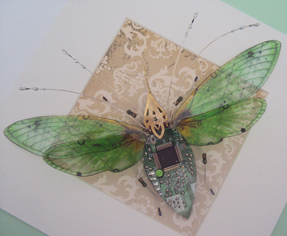 Winged crawly Designs From Old PC Parts And Gadgets Buzz by  Julie Alice Chappell (7)