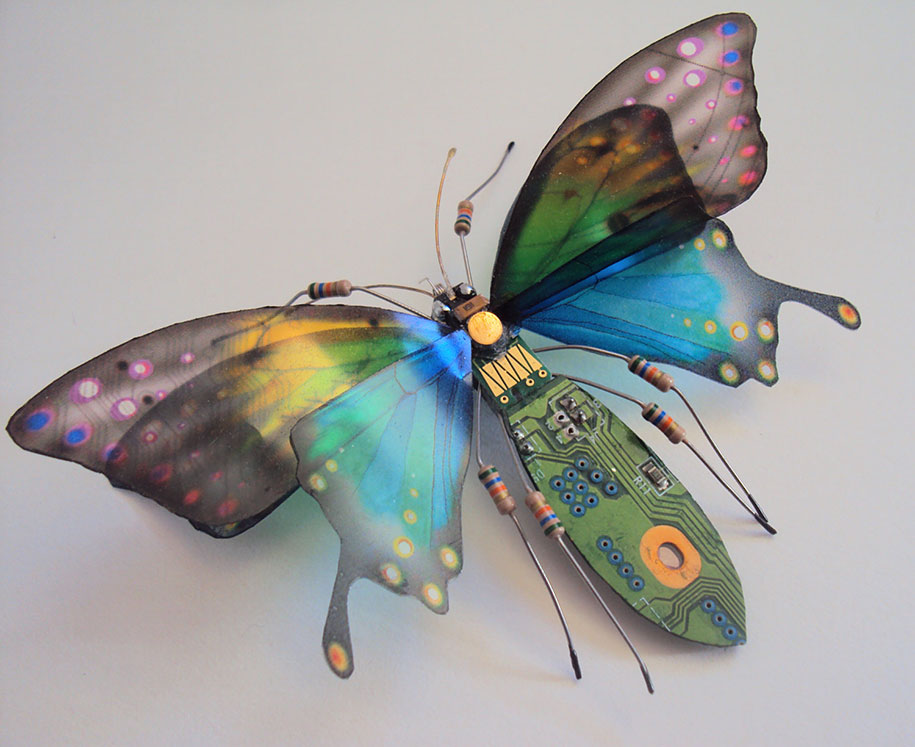 Winged crawly Designs From Old PC Parts And Gadgets Buzz by  Julie Alice Chappell (9)