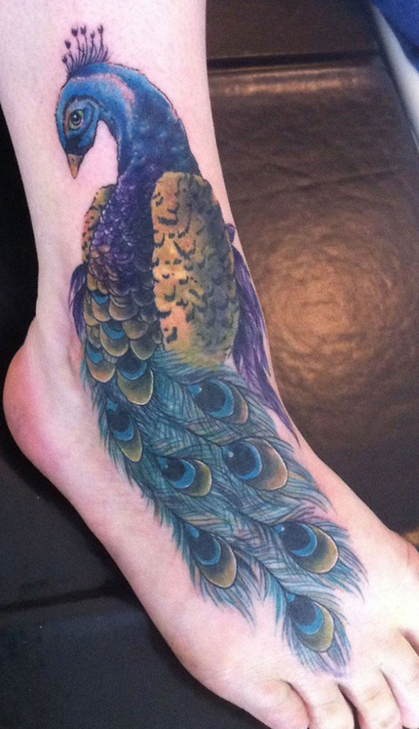 50 Outstanding Peacock tattoo designs (10)