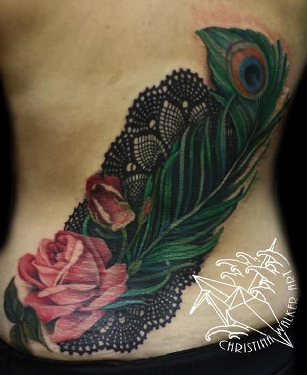 50 Outstanding Peacock tattoo designs (30)