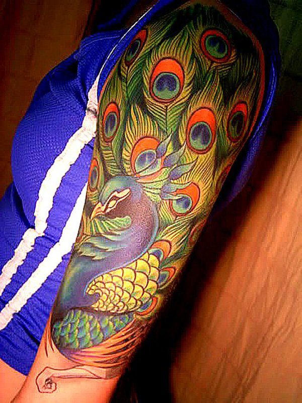 50 Outstanding Peacock tattoo designs (36)