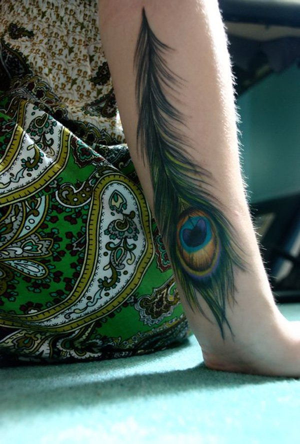 50 Outstanding Peacock tattoo designs (44)