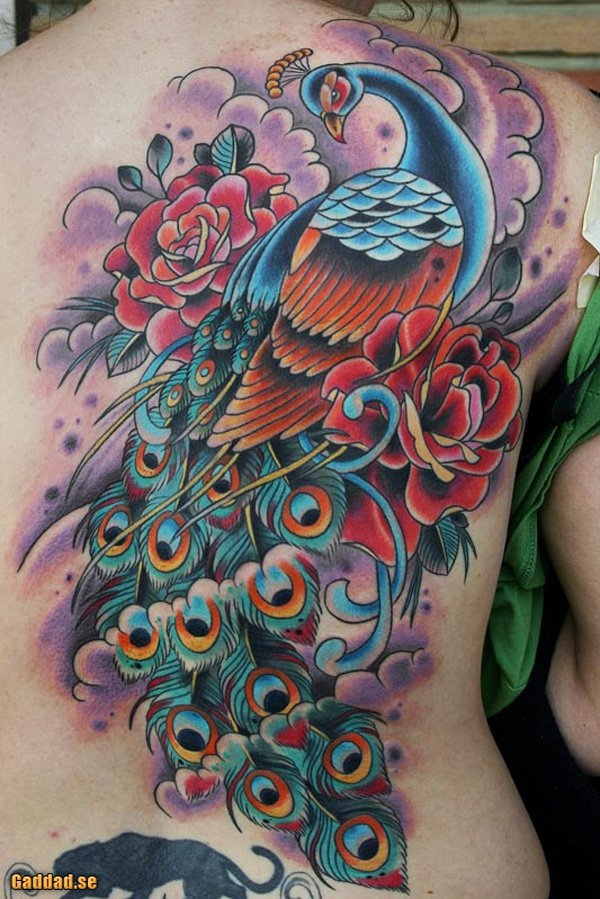 50 Outstanding Peacock tattoo designs (46)