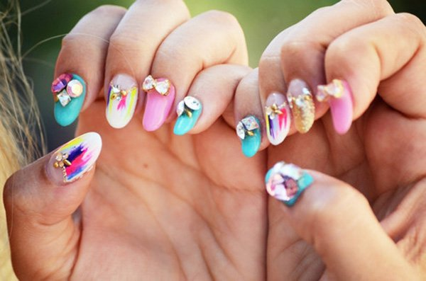 55 Beautiful Japanese Nail Art Designs (1)