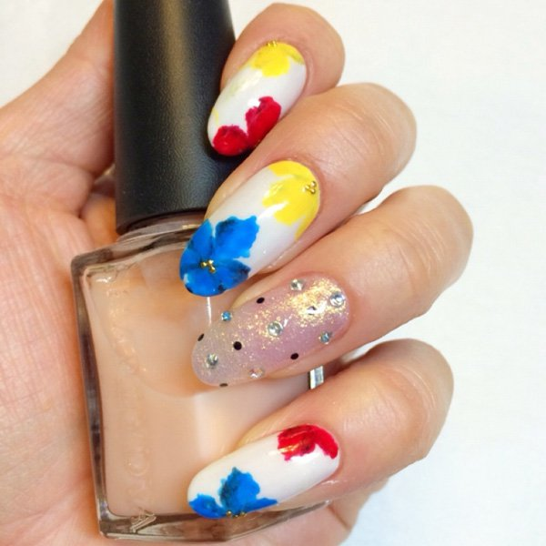 55 Beautiful Japanese Nail Art Designs (15)