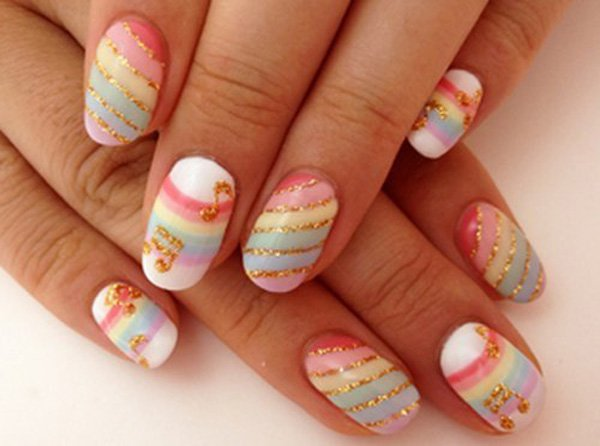 55 Beautiful Japanese Nail Art Designs (2)