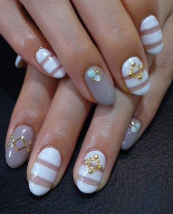 55 Beautiful Japanese Nail Art Designs (24)