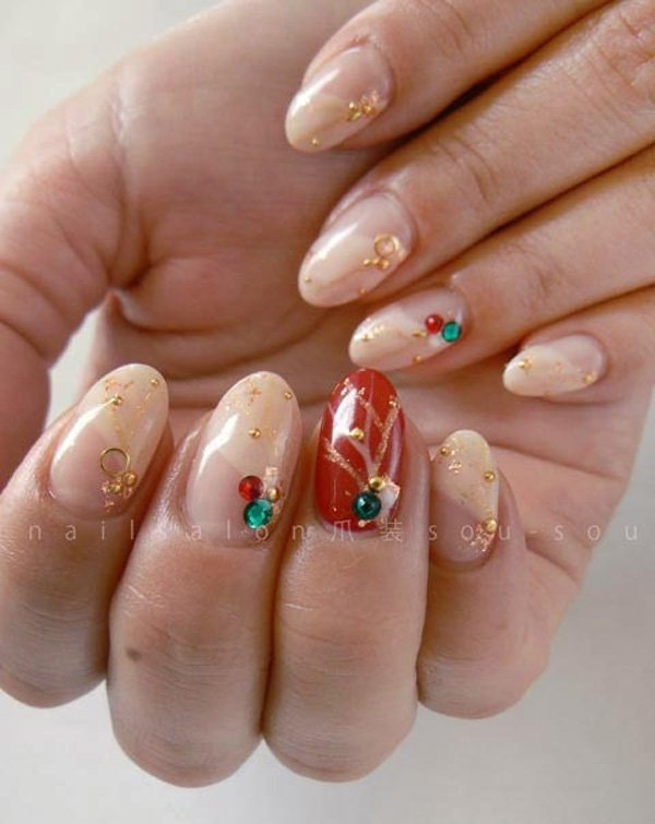 55 Beautiful Japanese Nail Art Designs (25)