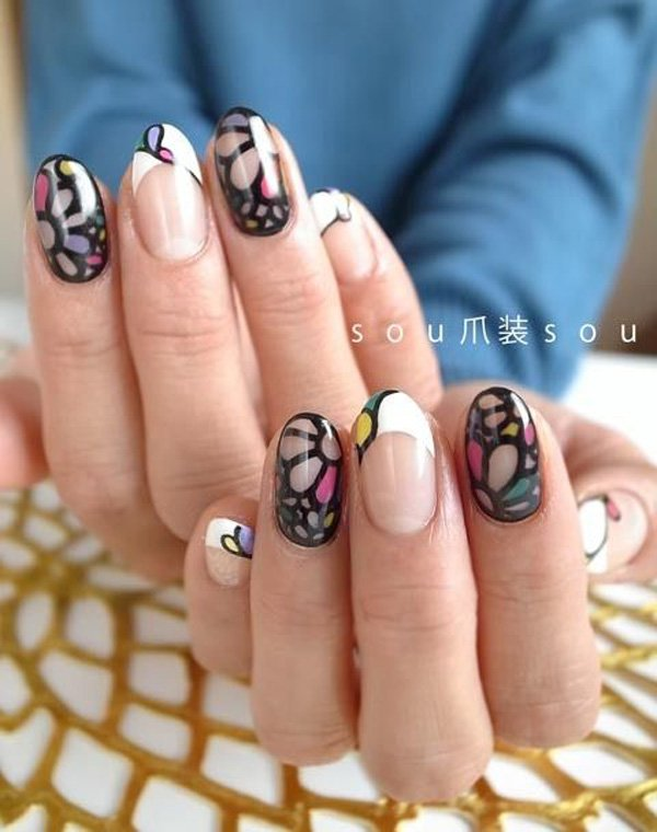55 Beautiful Japanese Nail Art Designs (26)
