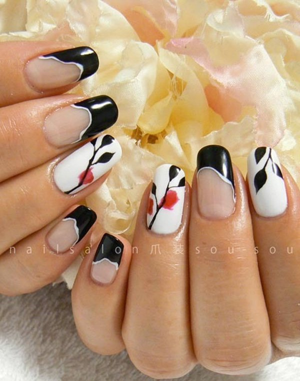 55 Beautiful Japanese Nail Art Designs (27)